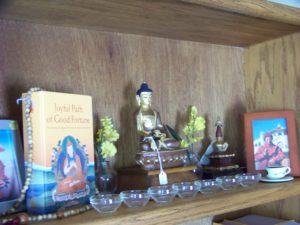 Buddhist Books and Statues