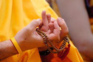 Offering a mandala