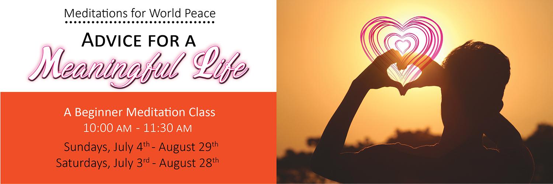 Saturday Sunday Beginner Meditation Classes